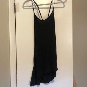 Blue life asymmetrical black dress Small
